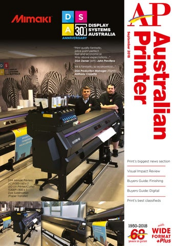 Australian Printer September 2018 by The Intermedia Group