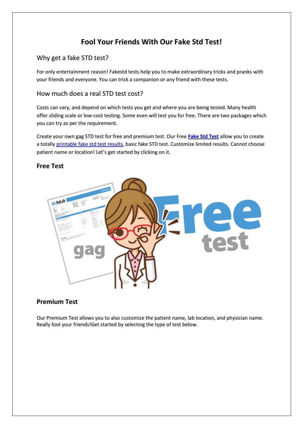 photo relating to Printable Fake Std Test Results known as Fakestdtest by way of Fakestd Try - issuu