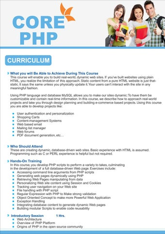 Php Training Institute Ghaziabad By Sudhansh Tiwari Issuu
