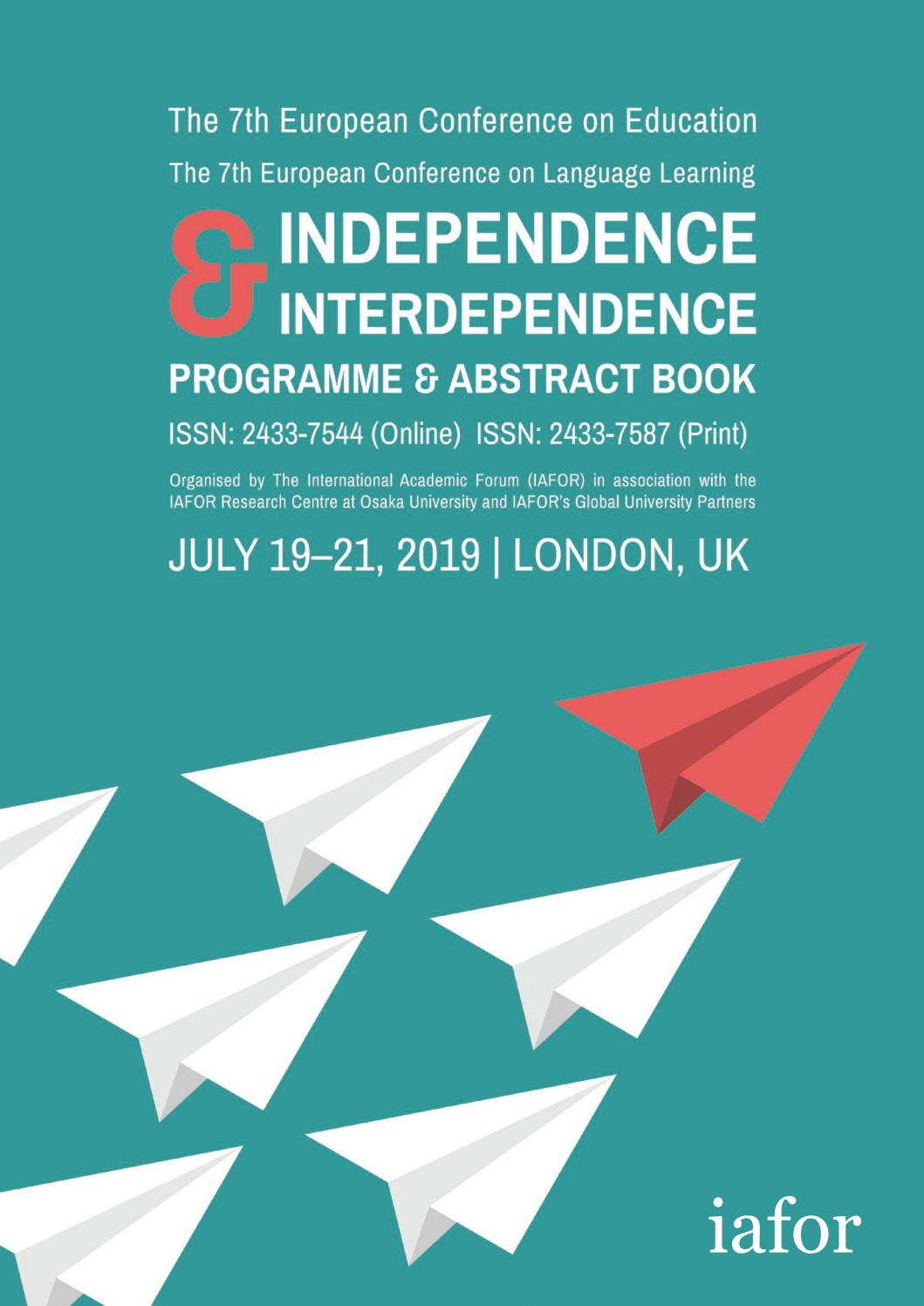 ECE ECLL 2019 Conference Programme & Abstract Book by IAFOR