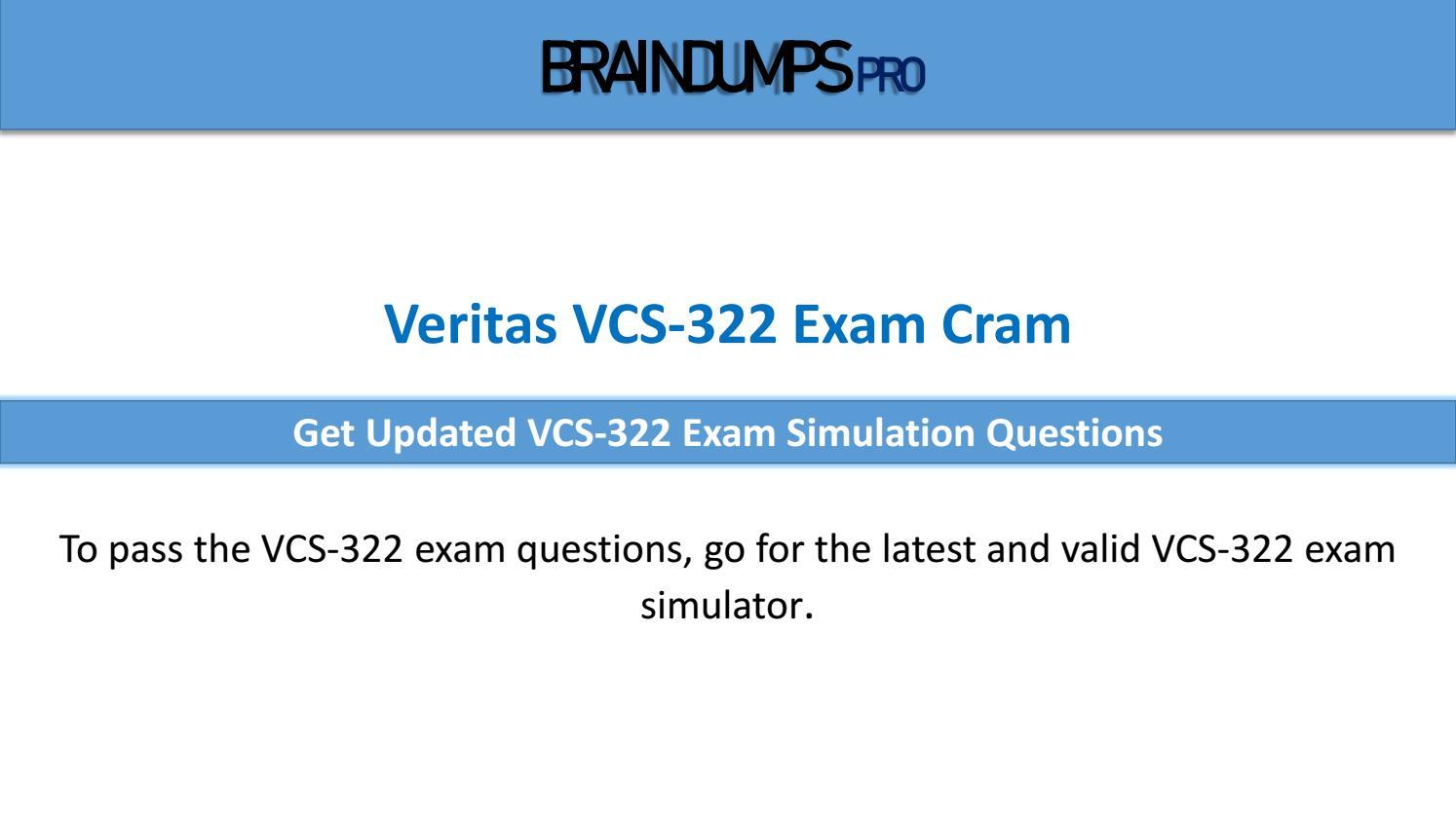Administration of Veritas Enterprise Vault 12.x VCS-322 Exam Q/&A+SIM