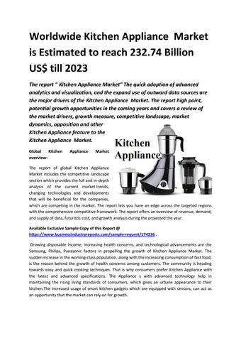 Kitchen Liance Market Future