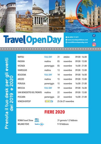 Bologna Fiere Calendario 2020.Calendario Tod 2019 20 By Travelquotidiano Com Issuu