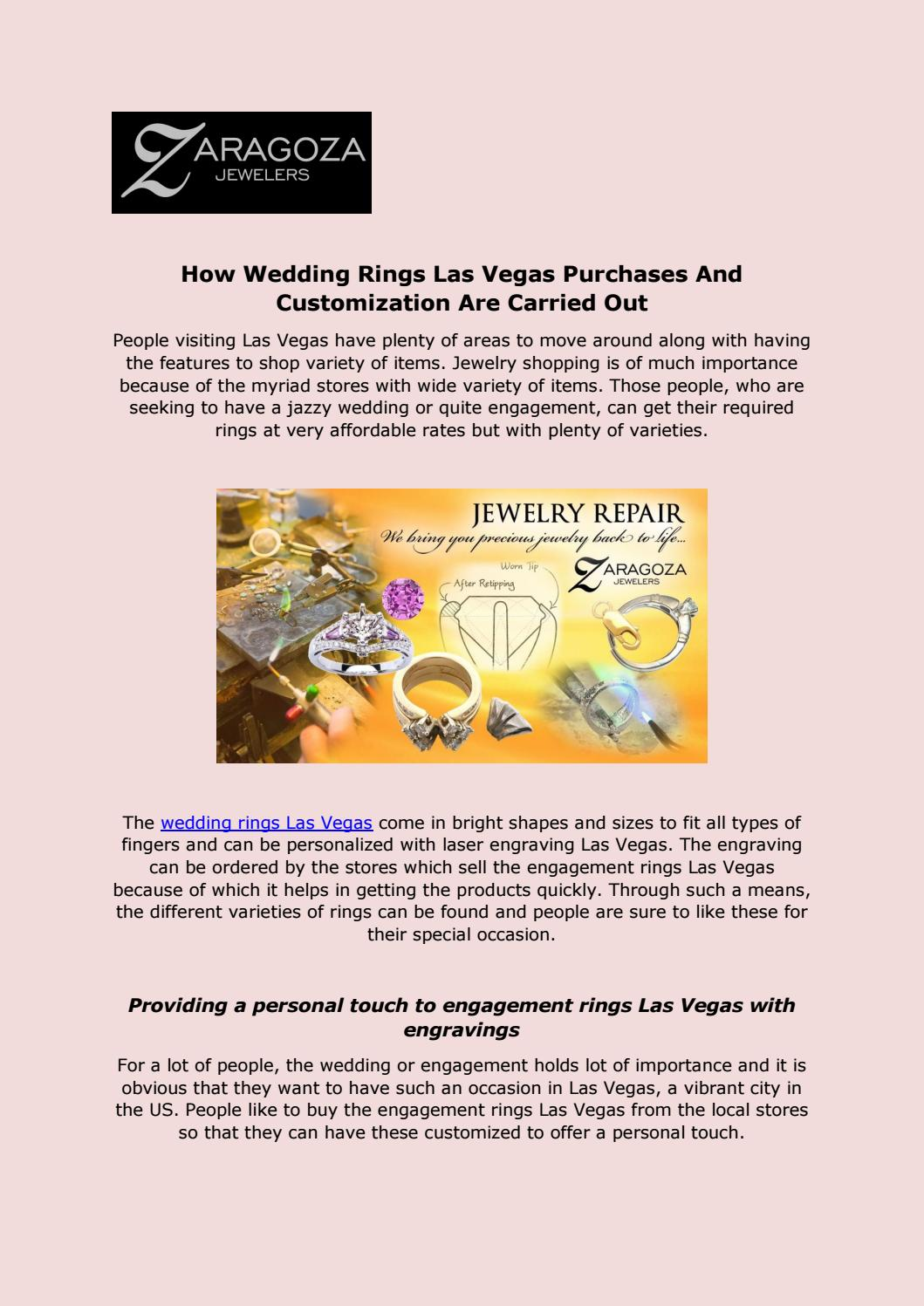 How Wedding Rings Las Vegas Purchases By Gozazara Issuu