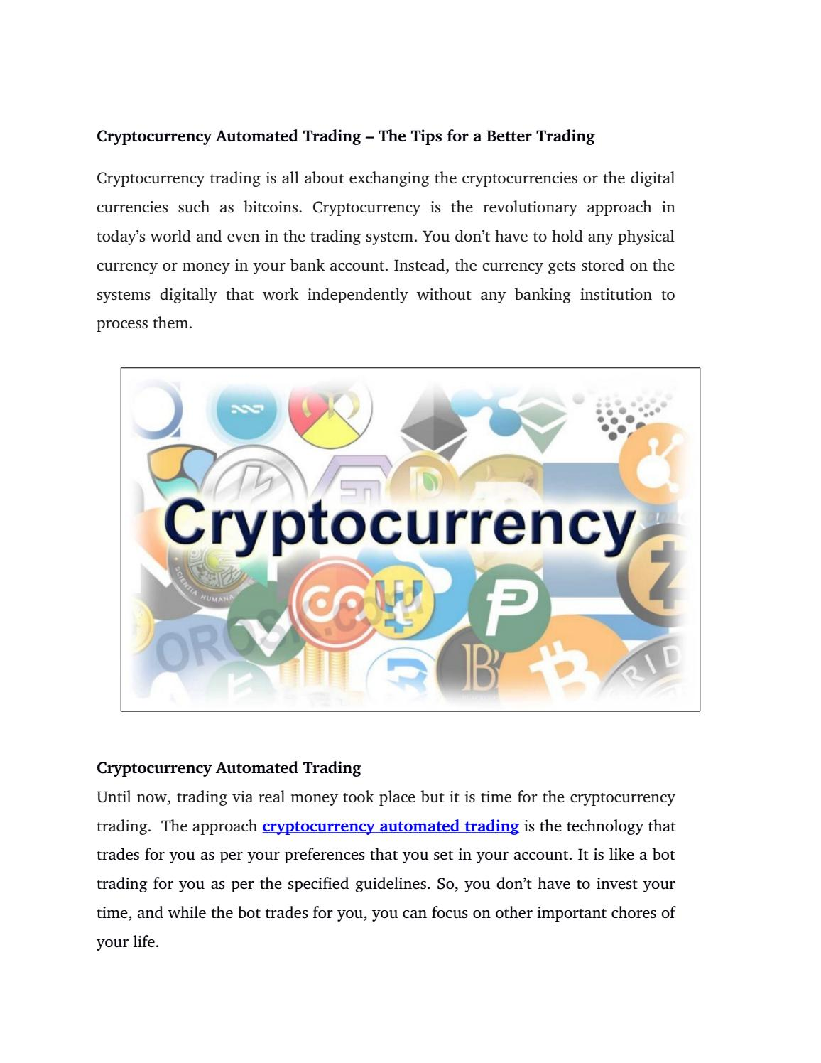 How trading cryptocurrency works