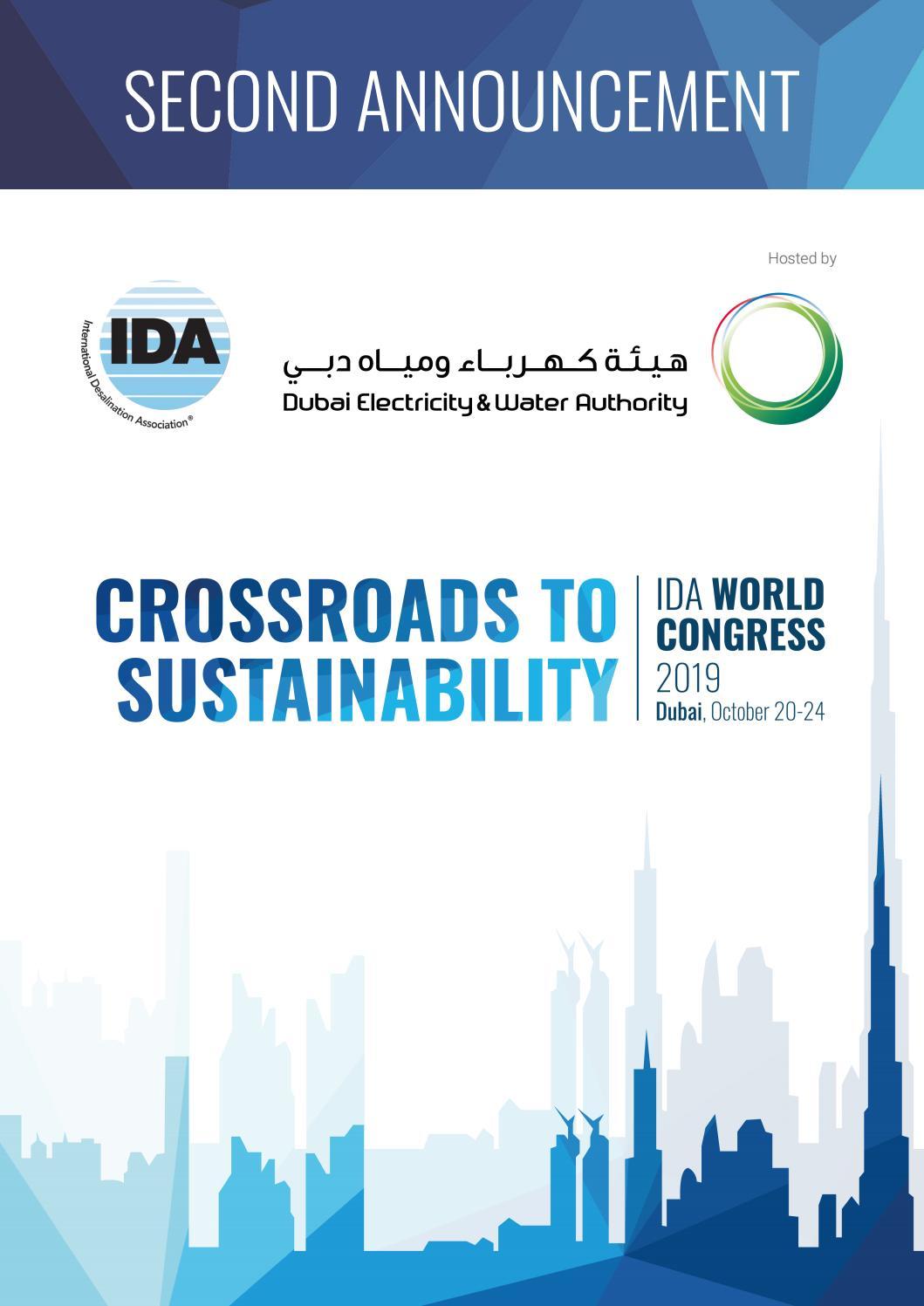 Ida 2019 World Congress Second Announcement By International