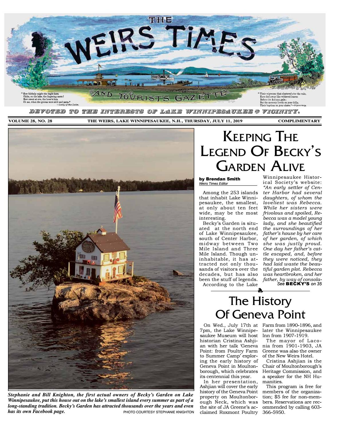 07/11/19 Weirs Times by The Weirs Publishing Company - issuu