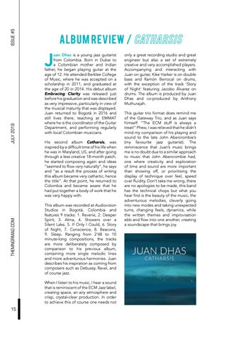 Page 20 of Album Review / Catharsis by Juan Dhas