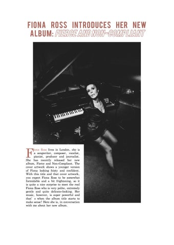 Page 8 of Fiona Ross Introduces Her New Album: Fierce and Non-Compliant