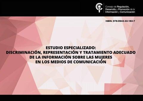 11e54e600 Discriminación, representación y tratamiento adecuado de la ...