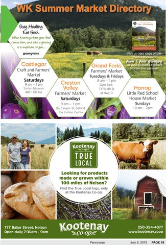 West Kootenay Summer Market Directory by Pennywise