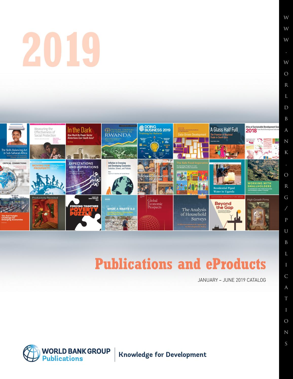 Spring 2019 Catalog by World Bank Group Publications issuu