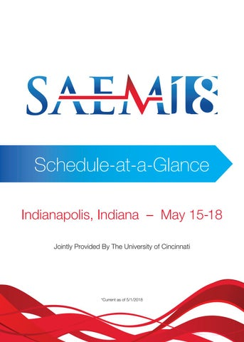 SAEM18 Schedule at a Glance by Society for Academic