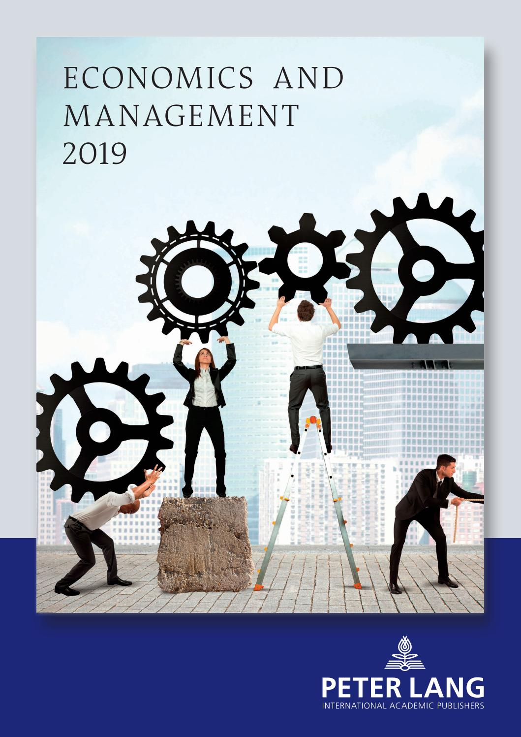 Economics and Management Catalogue 12 by Peter Lang Publishing ...