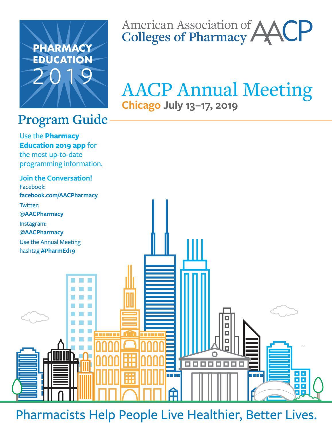4665b8a1a10b6 Pharmacy Education 2019 Program by AACP - issuu