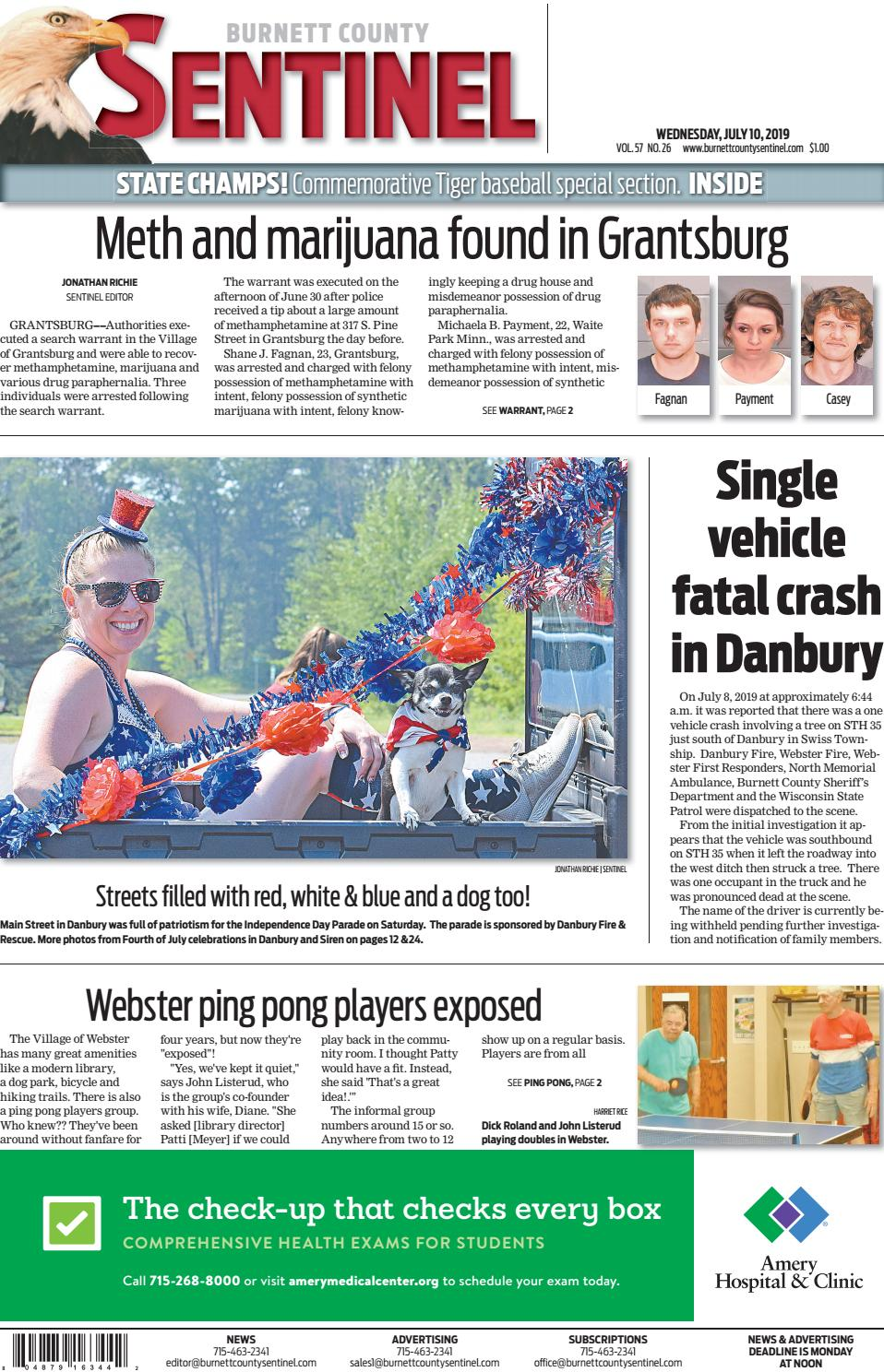 The Burnett County Sentinel 07 10 2019 By Burnett County Sentinel