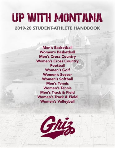 2019 20 Student Athlete Handbook by University of Montana
