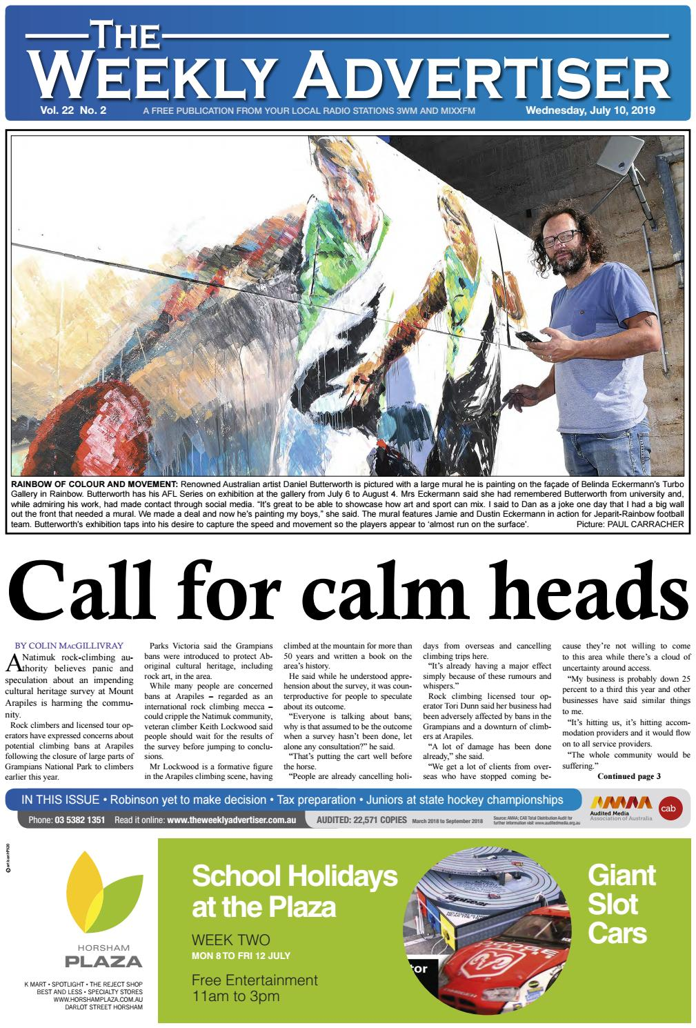 The Weekly Advertiser – Wednesday, July 10, 2019 by The