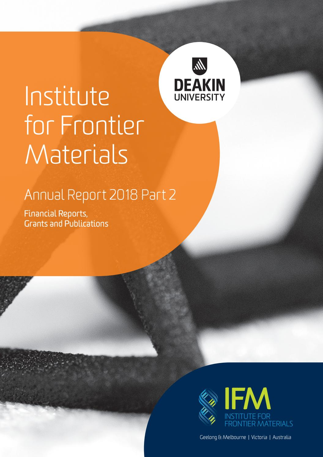 Institute for Frontier Materials Annual Report 2018 Part 2