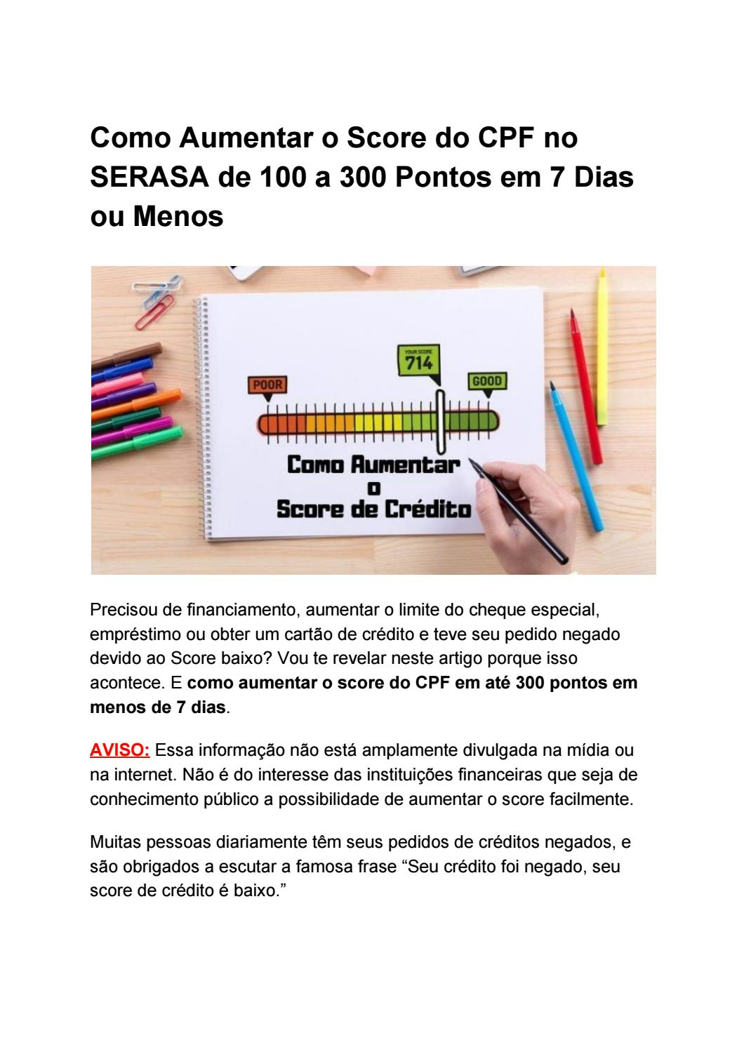 manual do novo score download