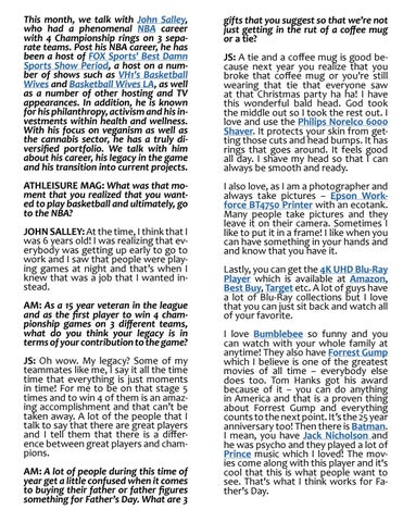 Page 44 of ATHLEISURE MAG JUN 2019 | Something You Should Know with John Salley