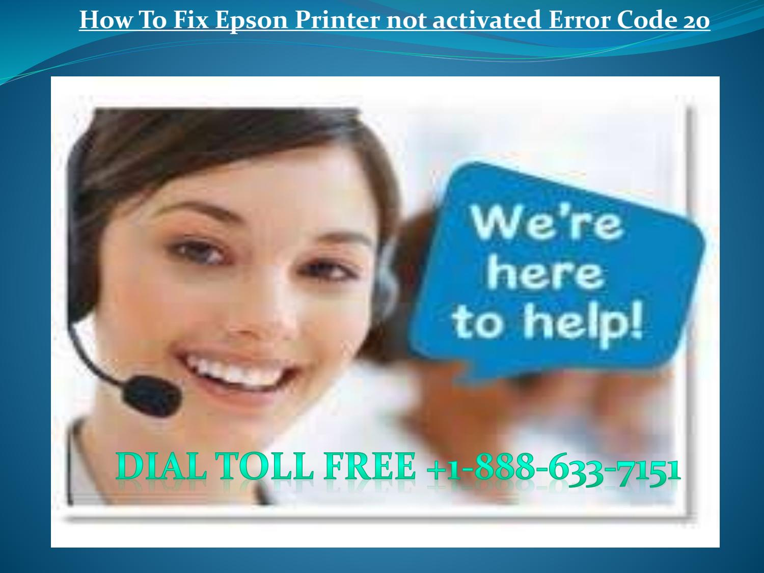 Fix Epson Pinter not activated error code 20 by Archer smith