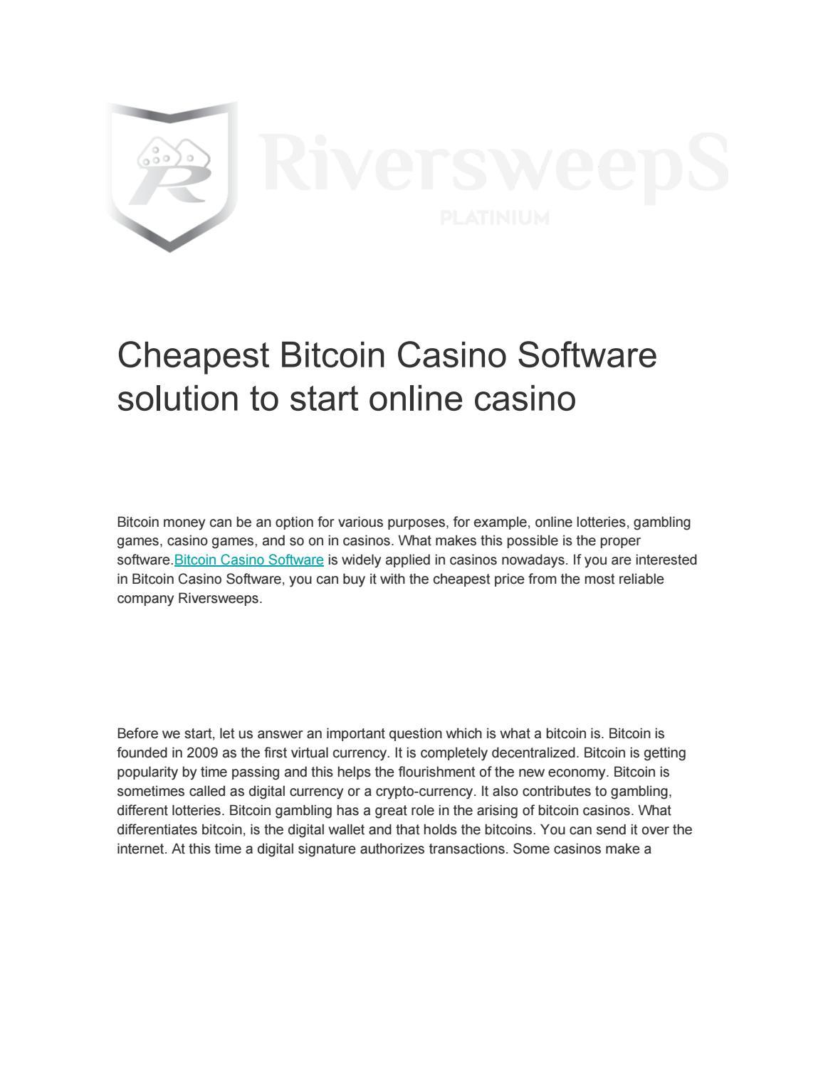 Cheapest Bitcoin Casino Software by lolwebzool - issuu