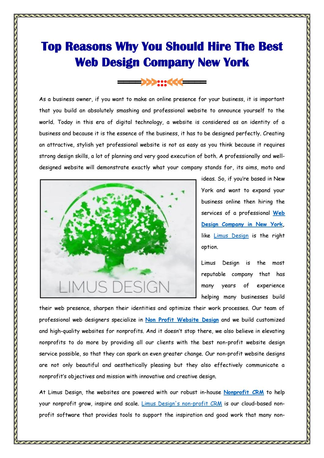 The Best Web Design Company New York By Limus Design Issuu