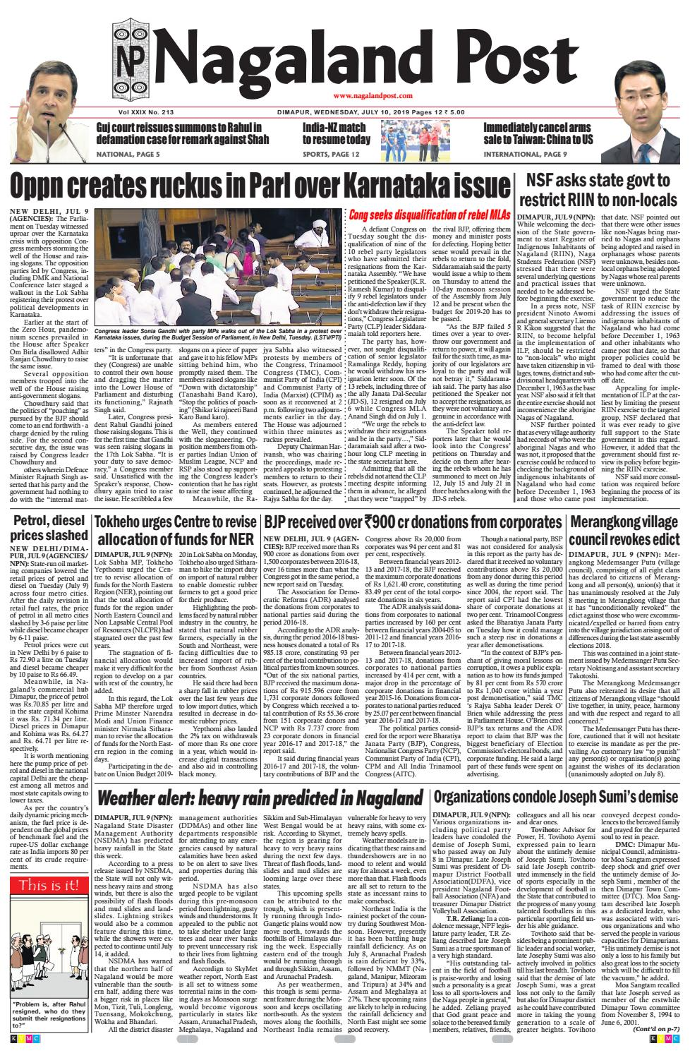 July 10, 2019 by Nagaland Post - issuu