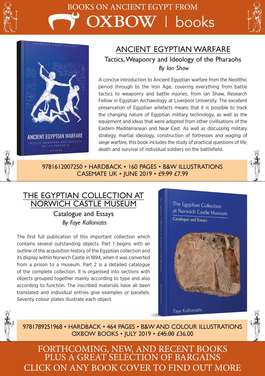 Books on Ancient Egypt from Oxbow Books by Casemate Publishers Ltd