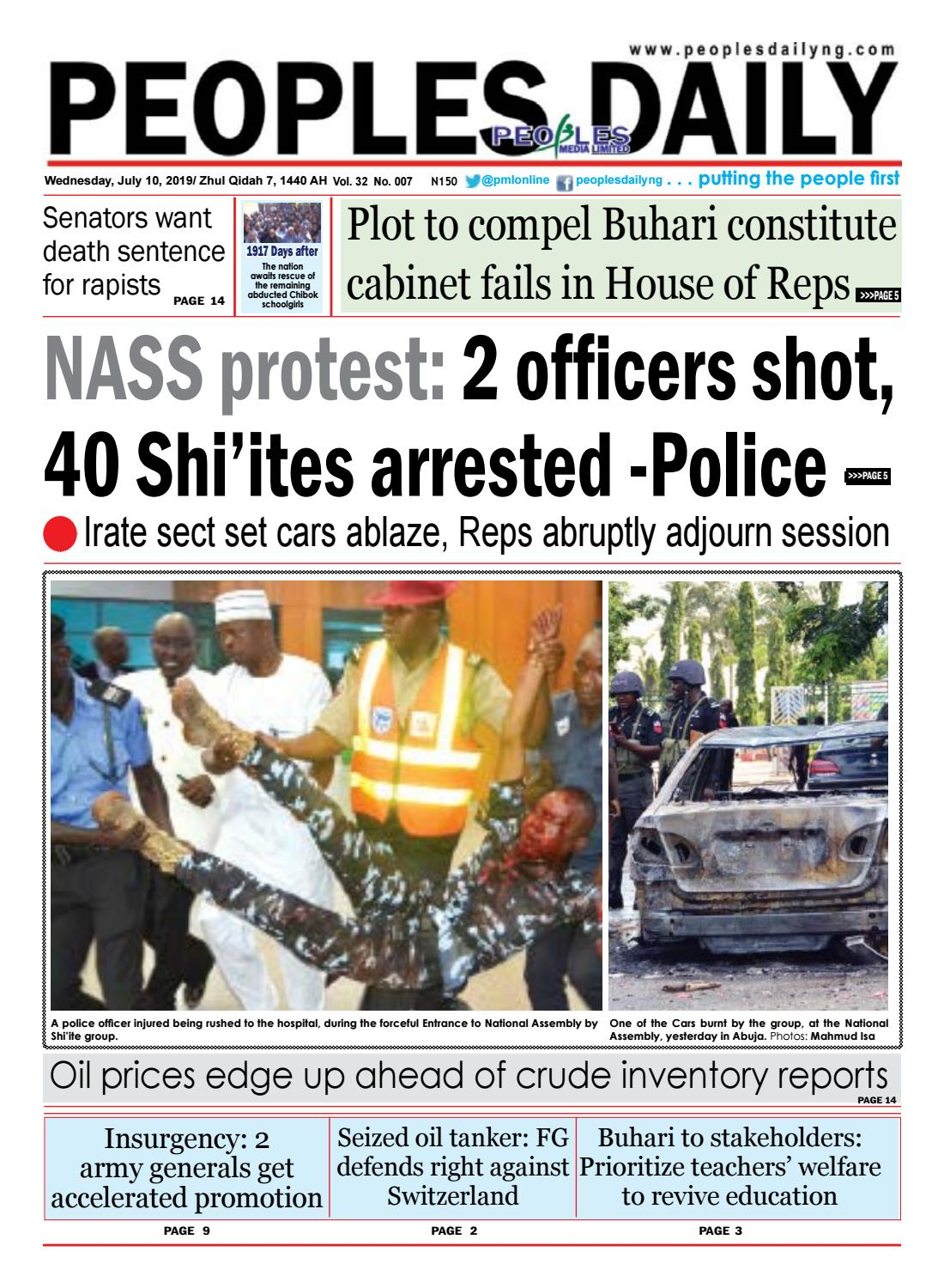 Wednesday, July 10, 2019 Edition by Peoples Media Limited