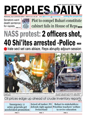 Wednesday, July 10, 2019 Edition by Peoples Media Limited - issuu