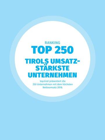 top tirol – Jahrbuch der Wirtschaft 2019 Ranking by TARGET
