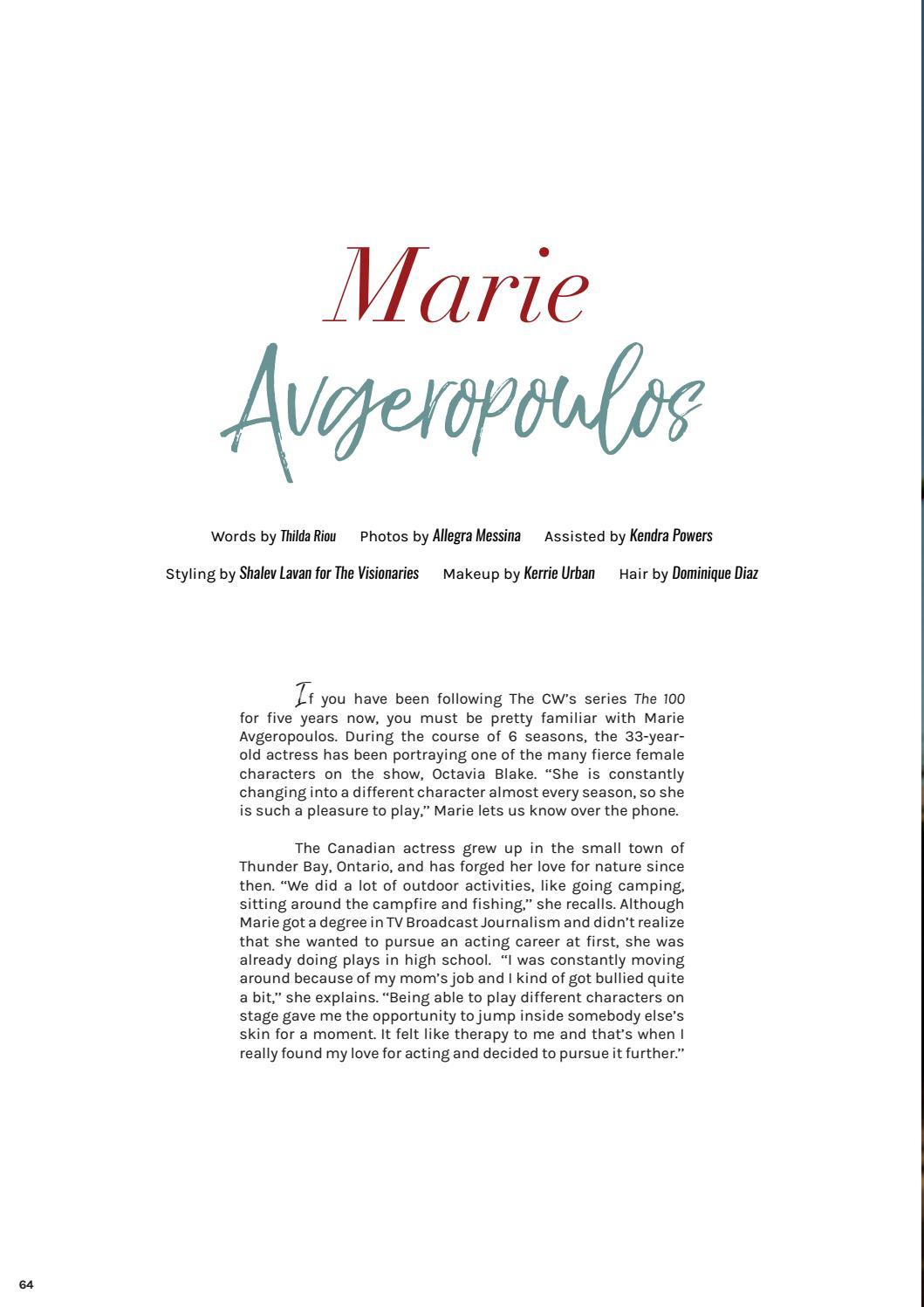 GRUMPY MAGAZINE #14 - Marie Avgeropoulos by Grumpy Magazine