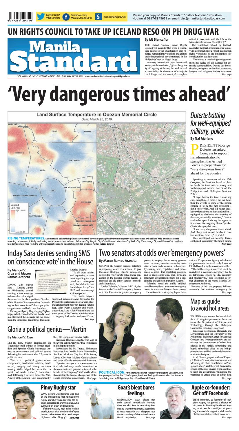 Manila Standard - 2019 July 11 - Thursday by Manila Standard - issuu