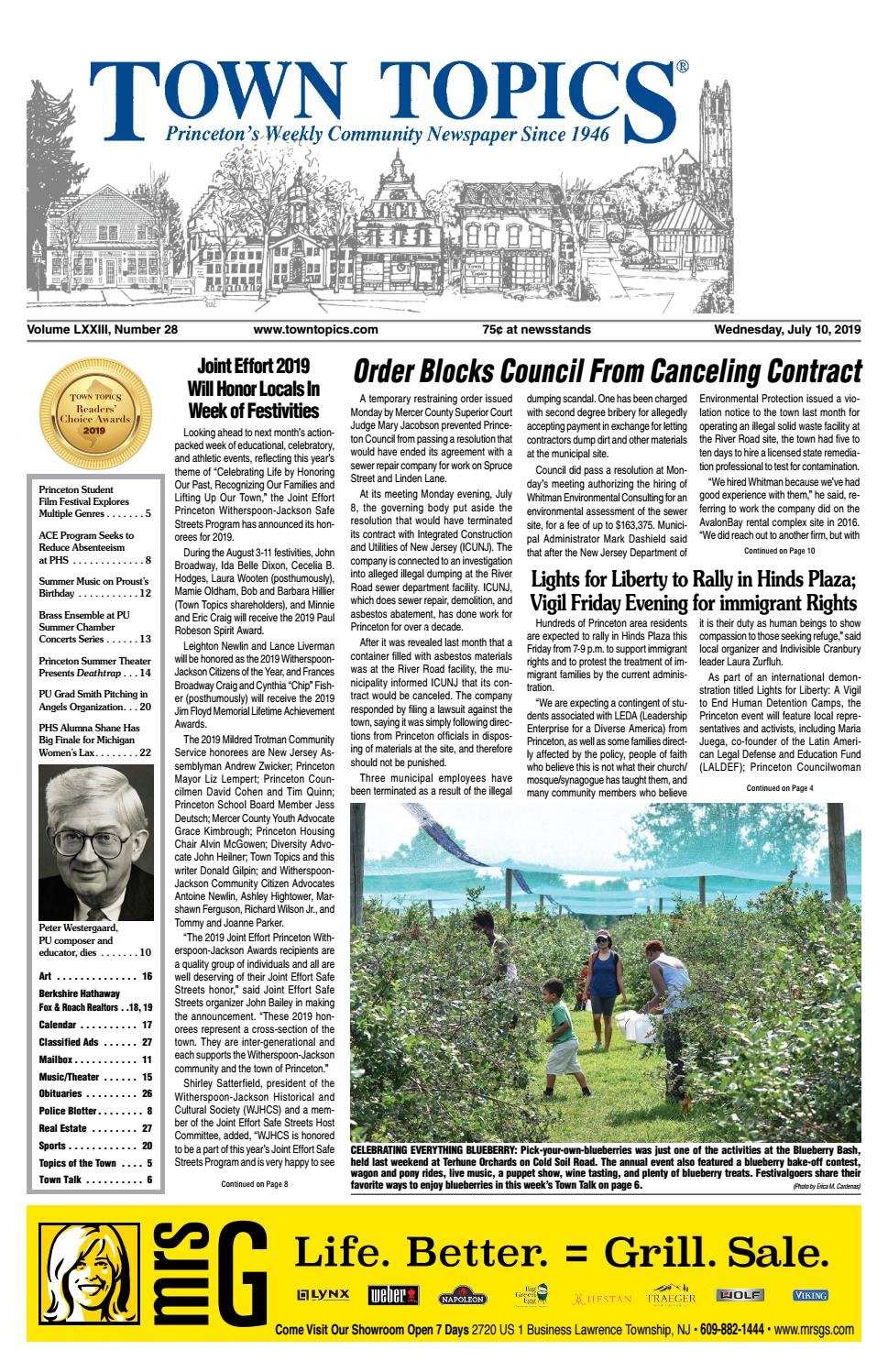 Town Topics Newspaper, July 10 by Witherspoon Media Group