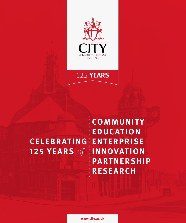Celebrating 125 years of City by City, University of London