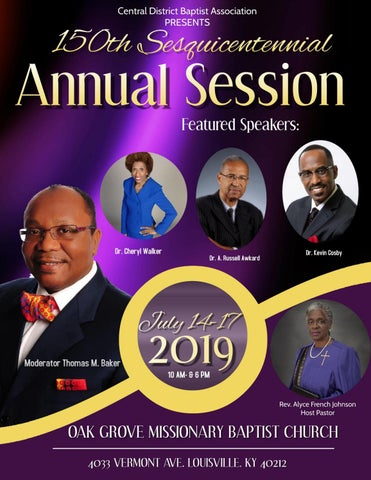 Central District Baptist Association Annual Session Program 2019 by