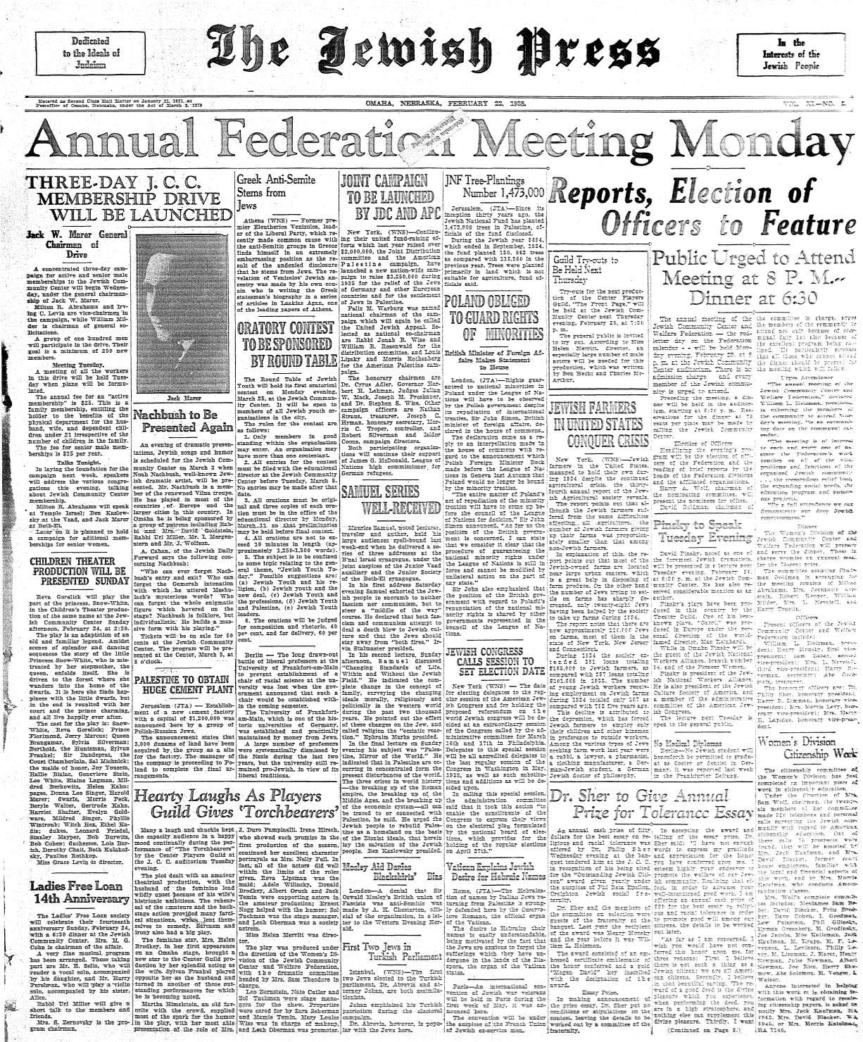 February 22, 1935 by Jewish Press - issuu