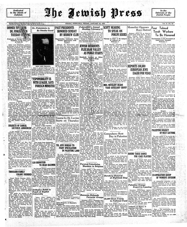 January 25, 1935 by Jewish Press - issuu