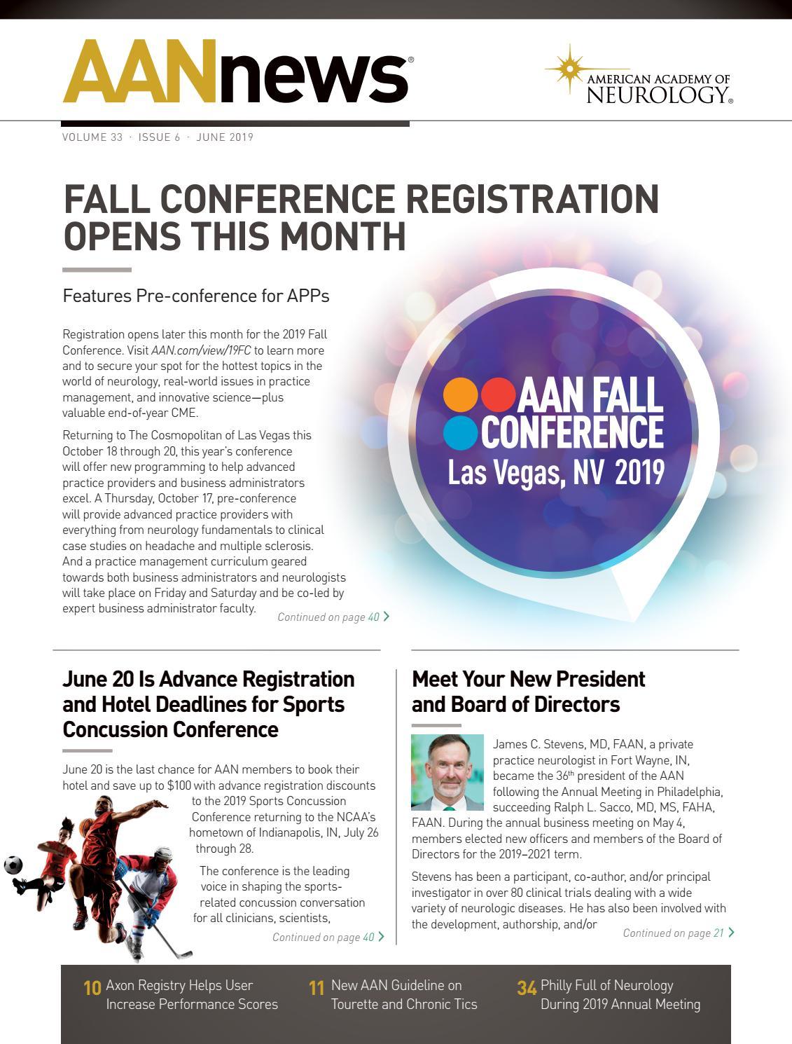 2019 June AANnews by American Academy of Neurology - issuu