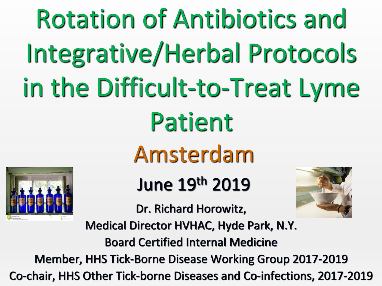 Amsterdam Rotation Protocols Dr H Training