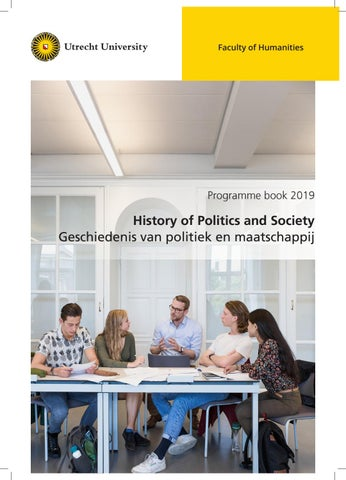 Programme book Master History of Politics and Society 2019