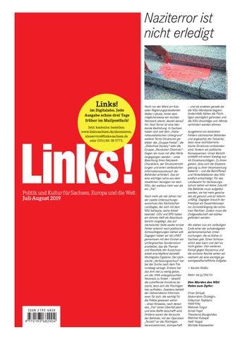 Links Juli August 2018 By Links Politik Und Kultur Für