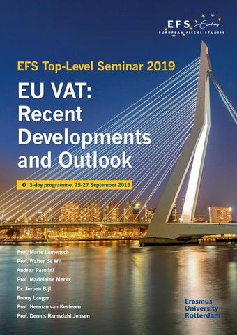 Top-Level Seminar 'EU VAT: Recent Developments and Outlook