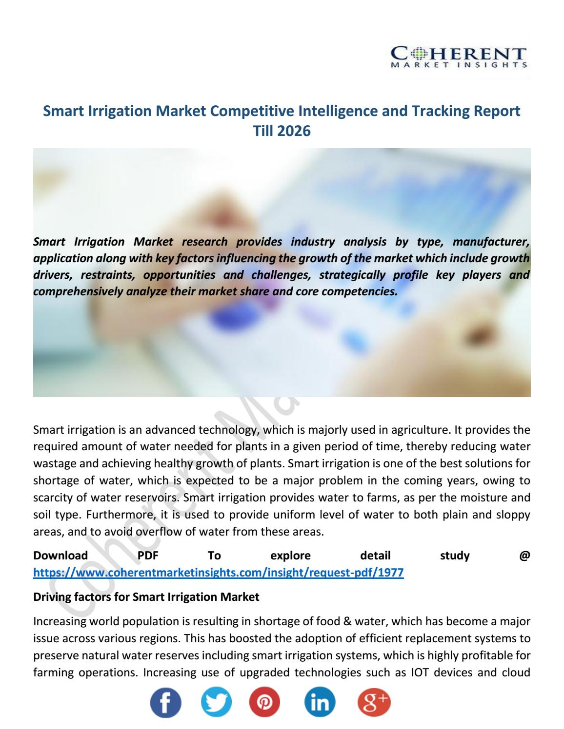 Smart Irrigation Market by EmmaStevens - issuu