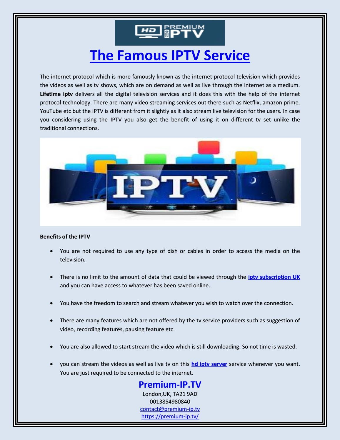 Tv Service Providers >> The Famous Iptv Service By Premium Ip Tv Issuu
