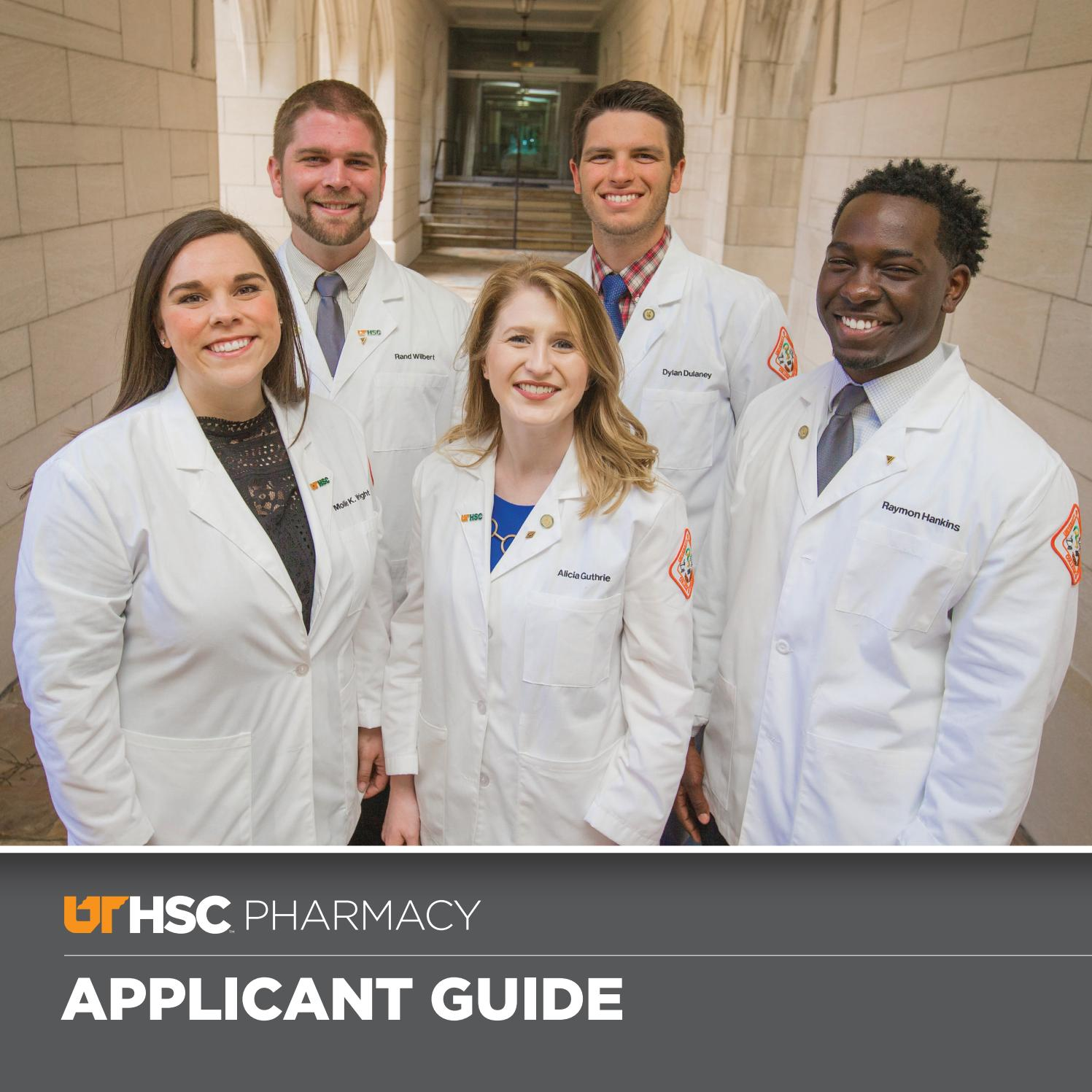 UTHSC College of Pharmacy Applicant Guide 2018 by University