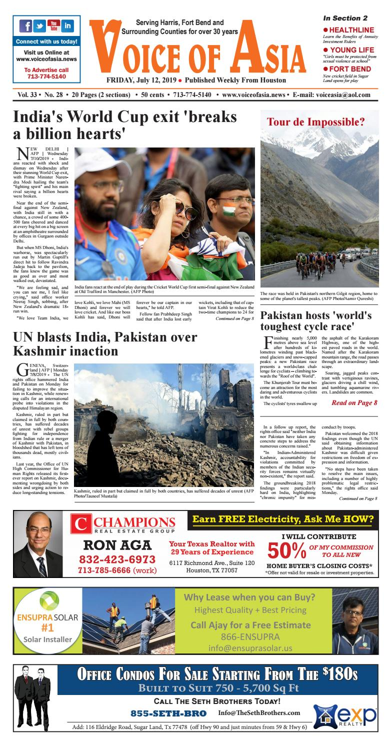VOA Epaper July 12, 2019 by VoiceOf Asia - issuu