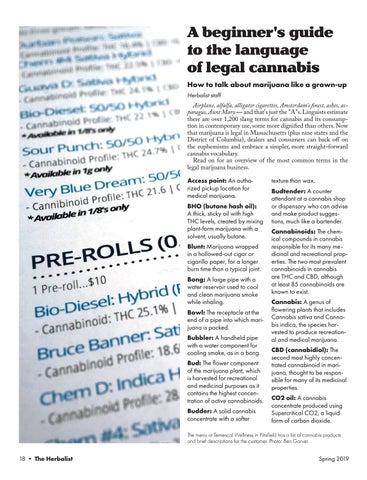 Page 20 of A beginner's guide to the language of legal cannabis